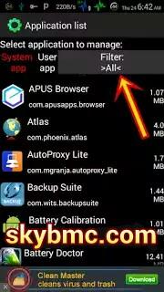 System app manager
