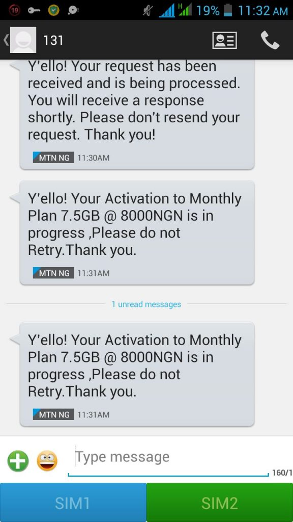 MTN Giving Free 4 5GB, 7 5GB & 3 5GB With N15000 Airtime (No charge