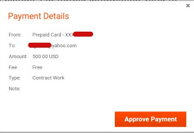 payoneer payment details
