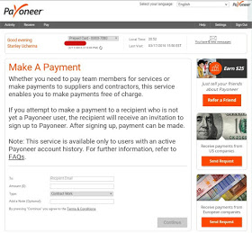 make a payment on payoneer