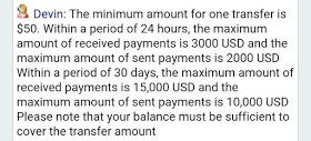 payoneer transfer limit