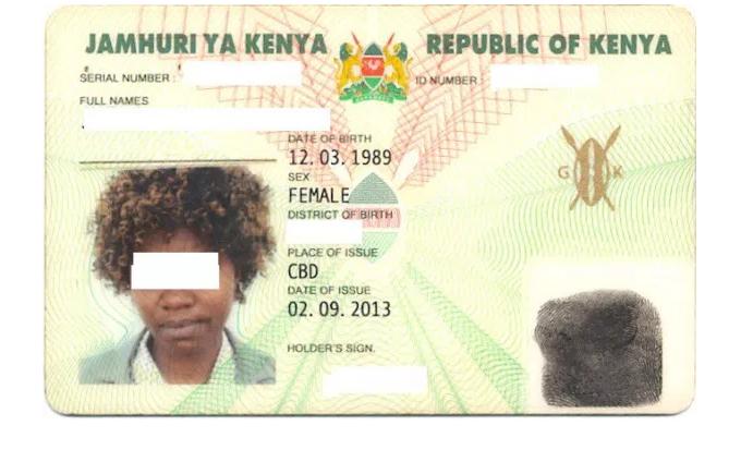 Kenya National Identity Card status