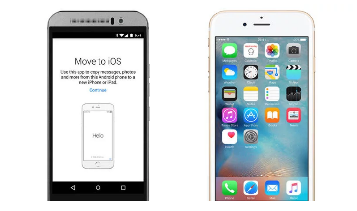 Transfer files data from Android phone to iphone device free