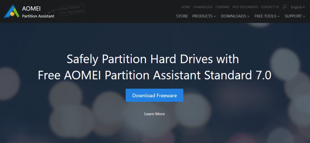 Free AOMEI Partition Assistant Standard Windows