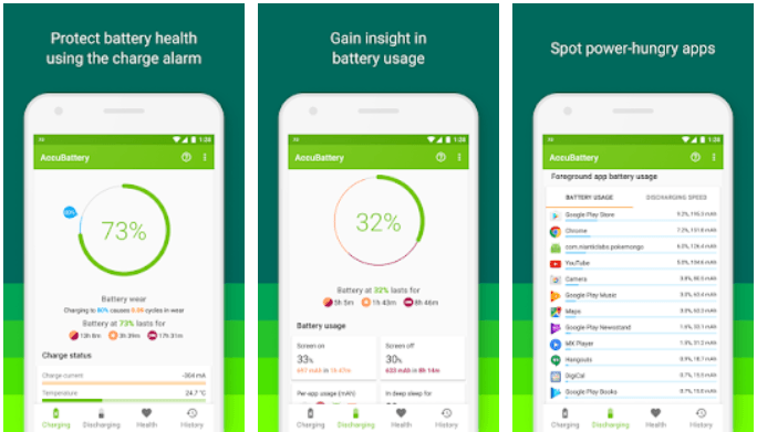 AccuBattery  app protects battery health