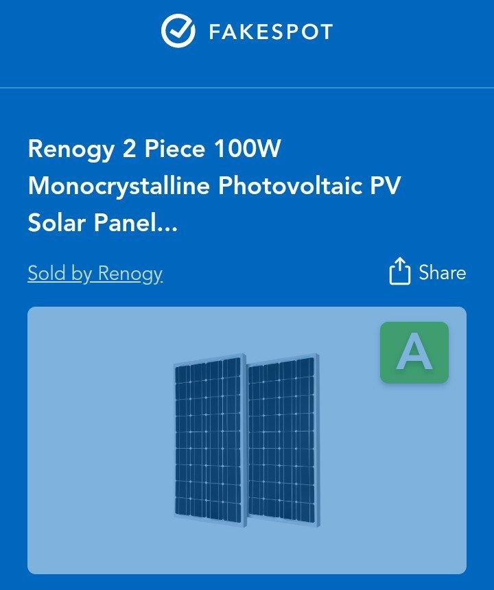 fakespot-analysis-on-solar-panel-product-sold-on-Amazon