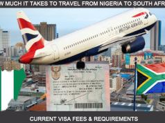 south africa visa fees in Nigeria