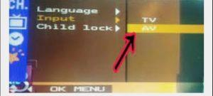 TV AV mode connection