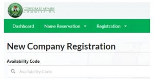 New company registration with CAC